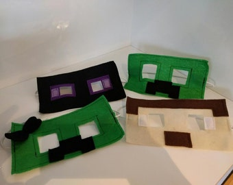 Minecraft Inspired Masks  (Costume, Photo Props)