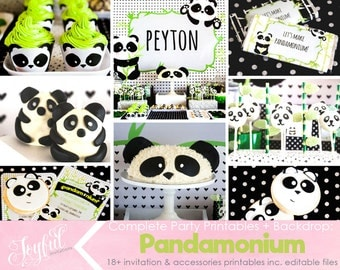 Panda Birthday Party Package COMPLETE