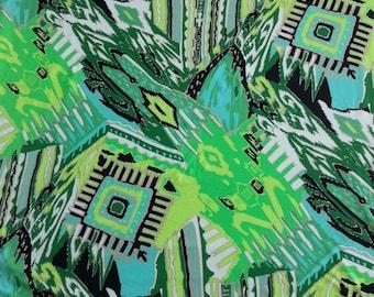3/4 Yard #SH Modal Spandex FabricJersey Knit Abstract Print