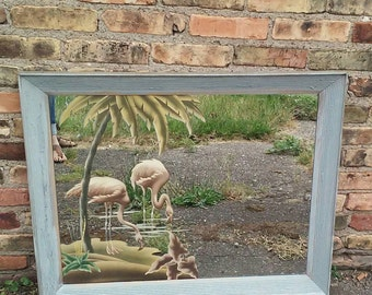 Reserved Antique Turner Flamingo Wall Mirror