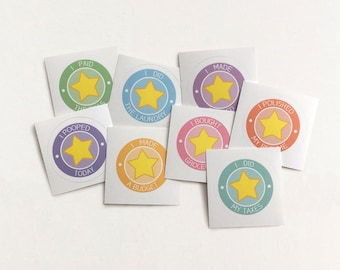 Adult Star Sticker Set