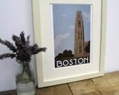 Boston Art Deco Landmark Print