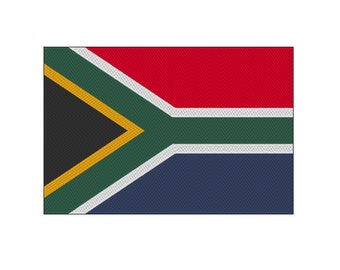 15 SIZES!! South Africa Flag Embroidery Design