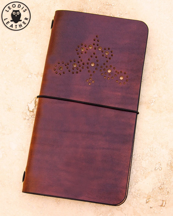 Leather Midori Traveller's Notebook Cover (Golden Brown Brogue)