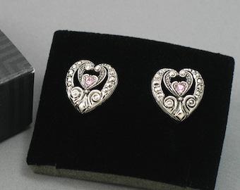 Vintage AVON 'Elegant Era' Clip On Earrings (1994) with original box. Faux Marcasite Earrings. Vintage Clip Earrings. Vintage Avon Earrings