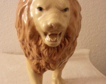 Vintage Ceramic Lion Figurine