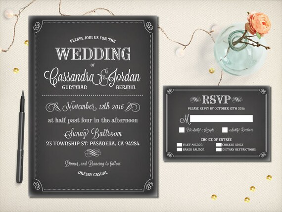 Vintage Steampunk Invitation