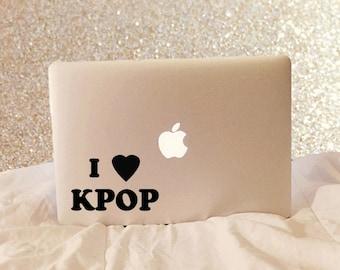 I Love KPop - Vinyl Decal - Laptop Decal - Laptop Stickers - Macbook Decal - Macbook Sticker - Quote Decal - Car Decal - iPad Decal - K Pop