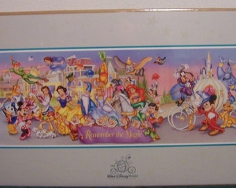 "Walt Disney World 25th Anniversary Poster Commerorative Edition 34""x 18"" New Rare Vintage WDW"