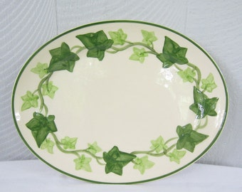 Vintage Ivy Franciscan Serving Platter.  Ivy China Meat Platter.