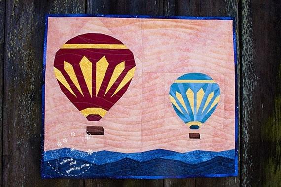 Hot Air Balloons - Paper Piecing