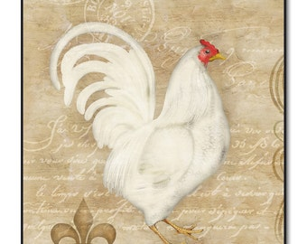 French Hen Wall Art on Wood