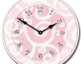 Light Pink Swirl Wall Clock