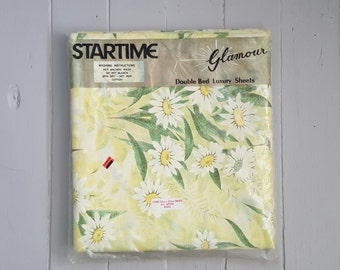 Vintage Bed Sheets Double Unopened