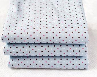 Grey Polka Dot Fat Quarter | Grey Cotton Fabric