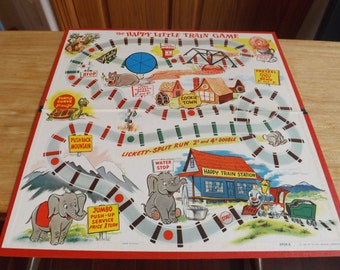 Vintage Game Board The Happy Little Train