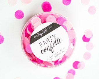 Party Confetti - Pink Peony