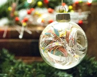 Hymn Christmas Ornament Handmade by ForWhomTheBookTolls on Etsy