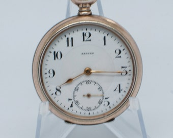 Zenith Pocket Watch Etsy