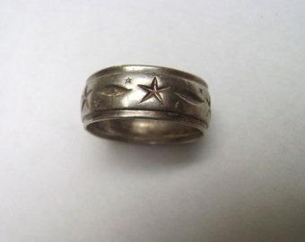 vintage uncas sterling star ring, size 6.5