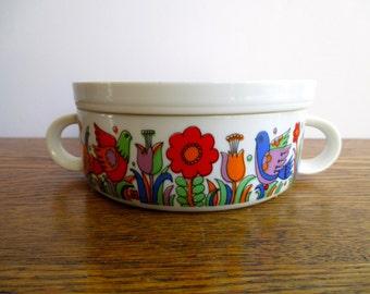 Vintage Royal Crown Porcelain Paradise Tiny Casserole