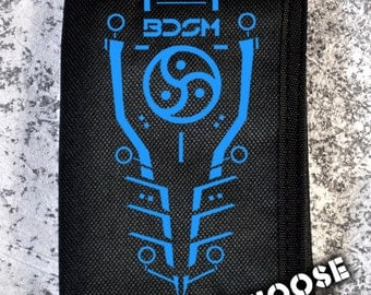 Cryoflesh BDSM Tron Cybergoth Cyberpunk Industrial UV Reactive Edc Edm Rave Wallet