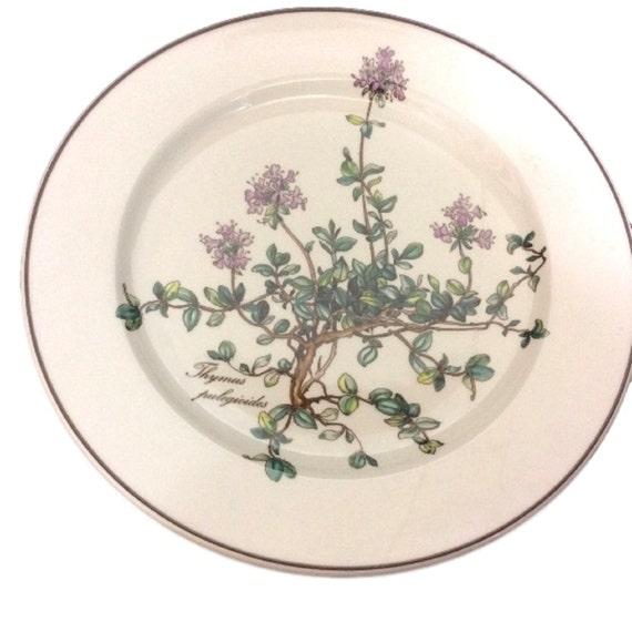 Villeroy & Boch Botanica Salad Plate Thymus No Root, Vintage Villeroy and Boch Porcelain Botanica