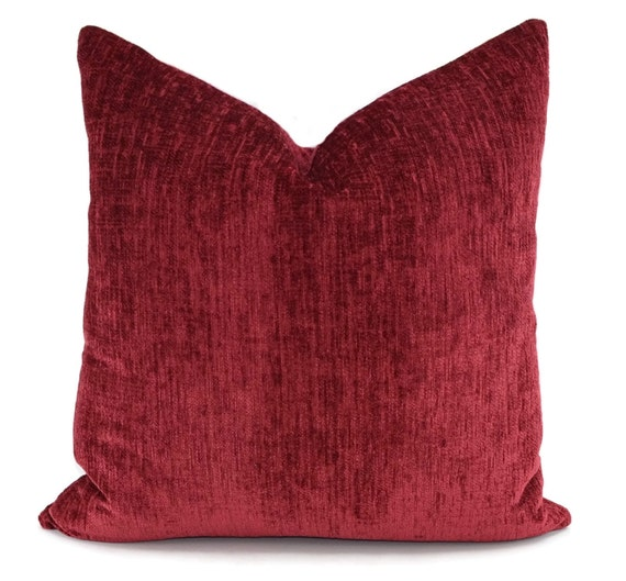 Chenille Throw Pillow Covers : Throw PIllow Cover Red Chenille Pillow Cover Red Chenille