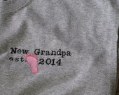 New Grandpa Embroidered T-shirt