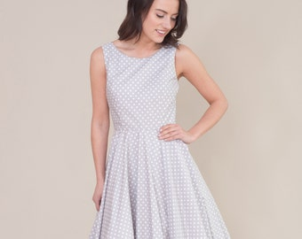 Spotty vintage style dress