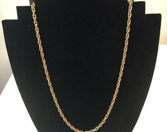 Crown Trifari Gold Tone Chain Necklace