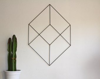 Minimalist Geometric Retro Modern Metal Sculpture Art Abstract Mid Century Contemporary Minimal Wall Decor by Petrykowski Artworks