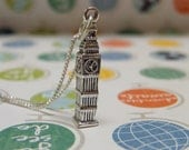 Big Ben sterling silver necklace London inspired jewelry