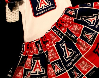 Univesity of Arizona Girls 3 piece Bodysuit set