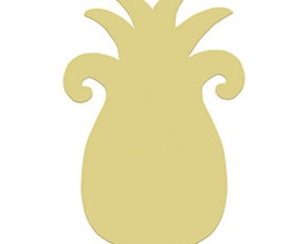 PINEAPPLE Unfinished Wooden Craft Shape, Do-It-Yourself