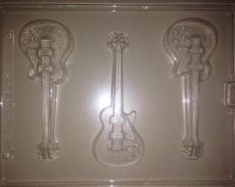 J110 - Chocolate Novelty Mold - Electric Guitars