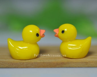 10pcs Resin Duck, 17x20mm Resin Duck Charms, Resin Duck Charms Beads, can make bobby pin