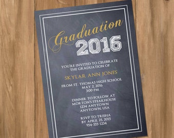 Graduation Invitation / Announcement  - (Digital - DIY)