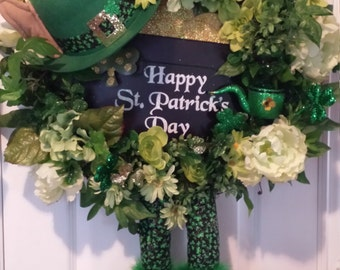 St Patrick's Day Leprechaun Wreath