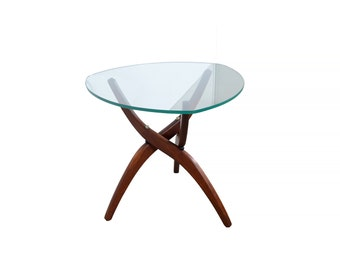 Forest Wilson Glass Top Side Table