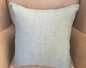 Large Cushion Cover/Pillow in Warwick Upholstery in a light silvery green