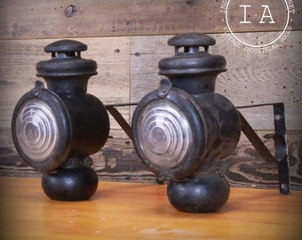 Antique Model T Ford Headlamps Headlights