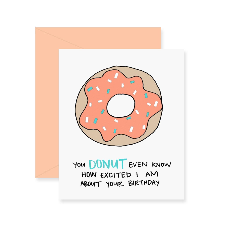 Donut Birthday Card Greeting Card Happy Birthday