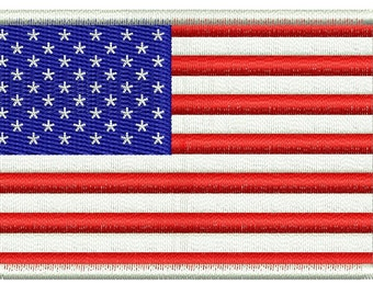 USA flag embroidery design - Machine Embroidery Design instantly download