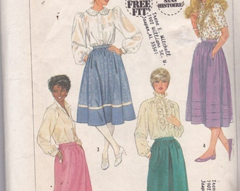 Simplicity 7435 Vintage Pattern Womens Full Skirt Pattern in 4 Variations Size  10  UNCUT