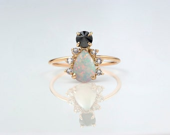 14k Gold Spider Ring