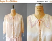 30%OFF 1930s Bed Jacket / Drawing Morning Bed Jacket / 30s