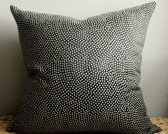 black with ivory dots pillow cover - COVER ONLY