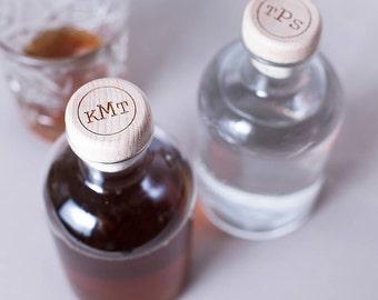 Personalised Circular Monogram Drink Decanter - Custom Decanter - Monogram Decanter - Whiskey Lover Gift - Scotch Decanter - Groomsmen Gift