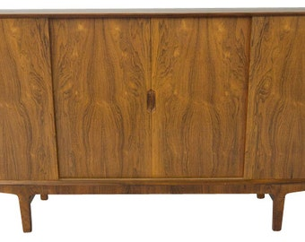 Rosewood Credenza Sideboard Buffet Mid Century Danish Modern